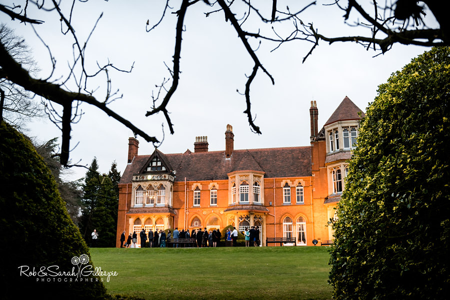 Highbury Hall rear view in the evening