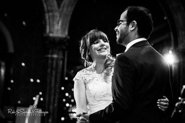 Bride and groom first dance at Highbury Hall wedding