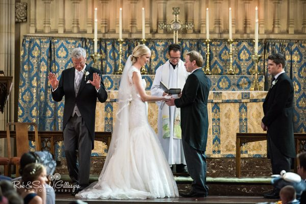 Wedding service at Malvern College chapel