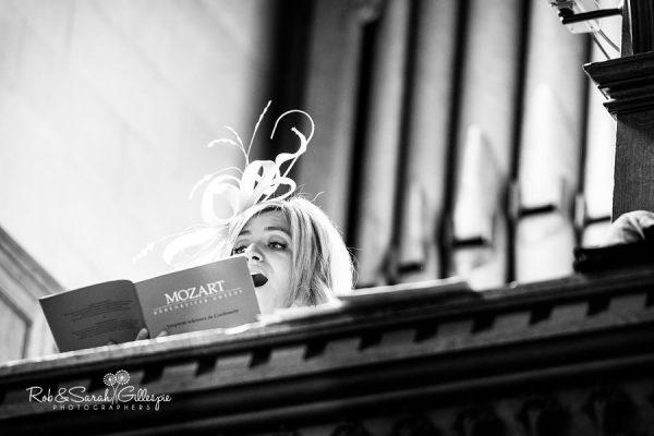Singer performing at Malvern College wedding