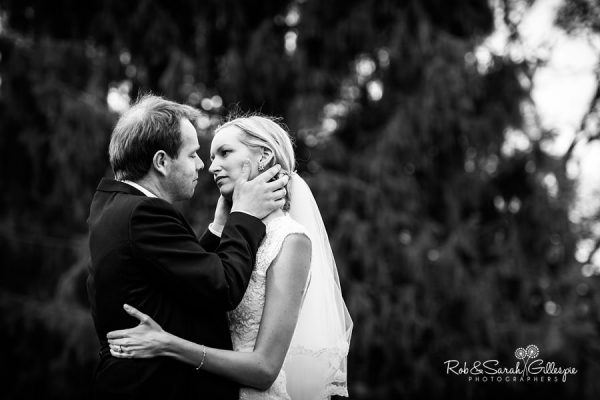 Bride and groom together at Malvern College wedding