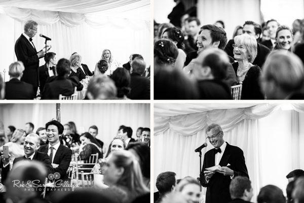 Wedding speeches at Malvern College wedding