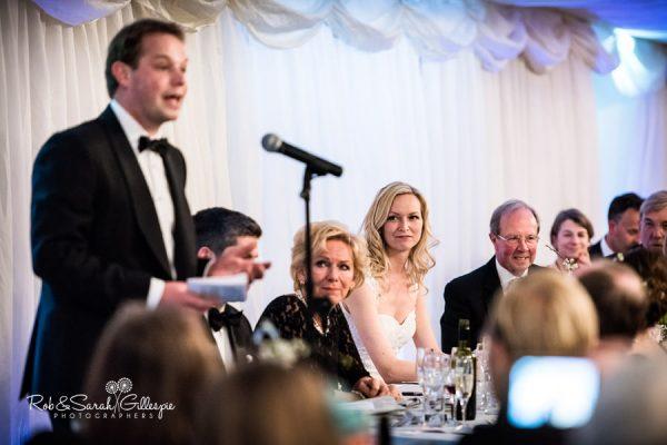 Wedding speeches at Malvern College