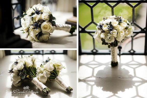 Bridal bouquet at Coombe Abbey wedding