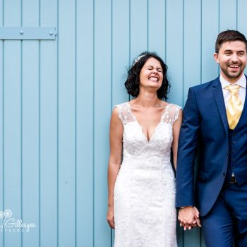 Bride and groom laughing together at Pendrell Hall wedding
