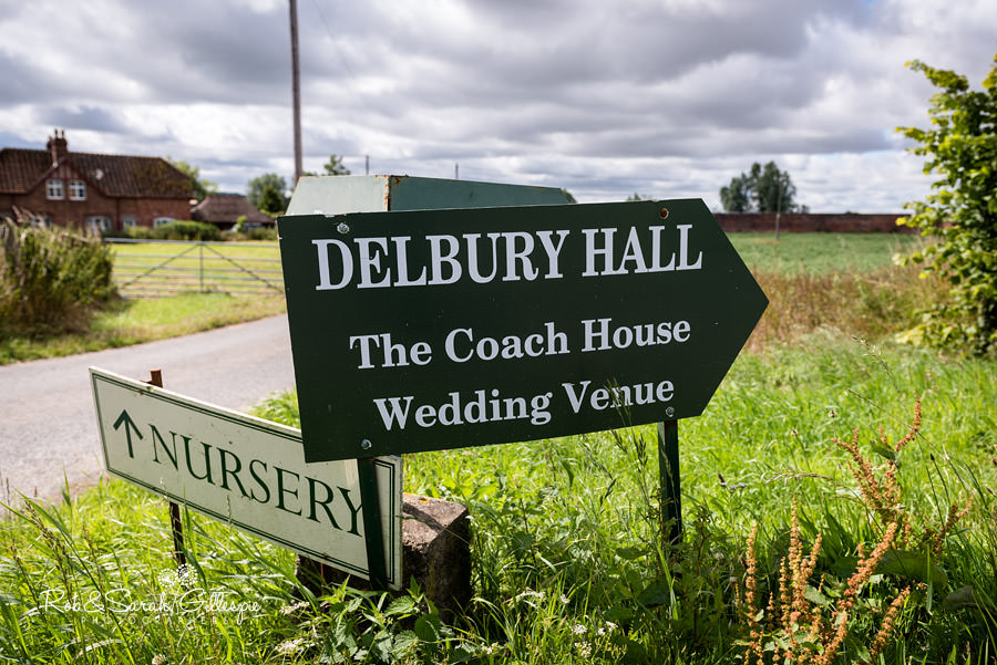 Delbury Hall Coach House sign