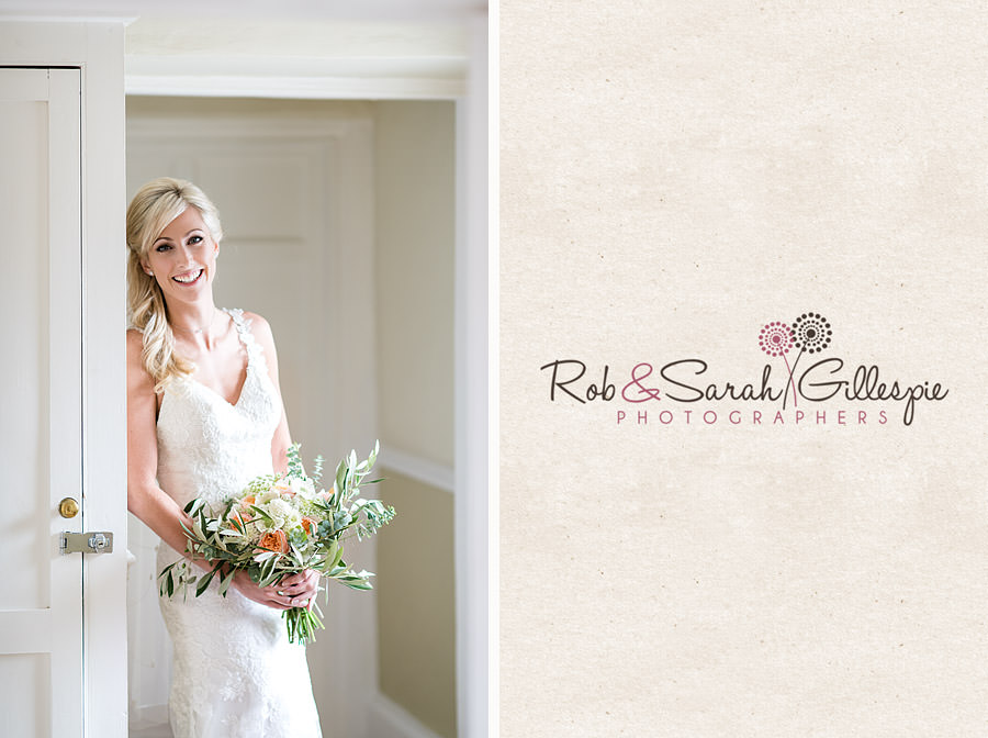 Bride portrait in beautiful light at Delbury Hall Coach House in Shropshire