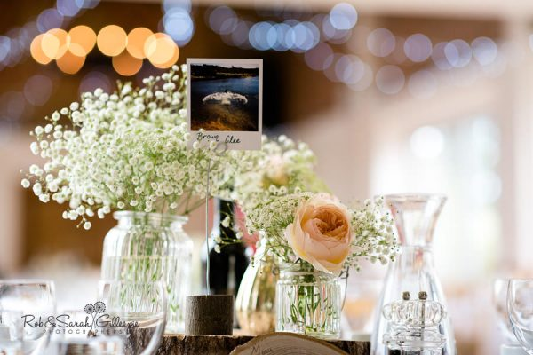 Delbury Hall wedding breakfast table details