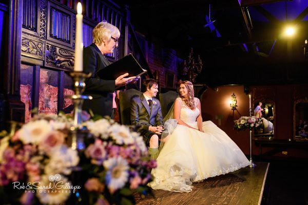 Wedding ceremony in Abbeygate at Coombe Abbey