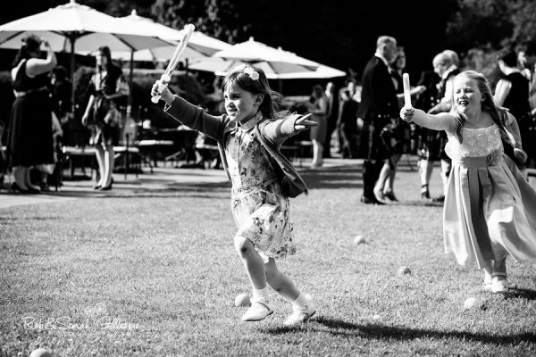 Children playing at Coombe Abbey wedding reception
