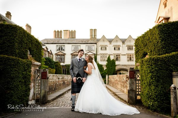 Wedding photography at Coombe Abbey - bride and groom