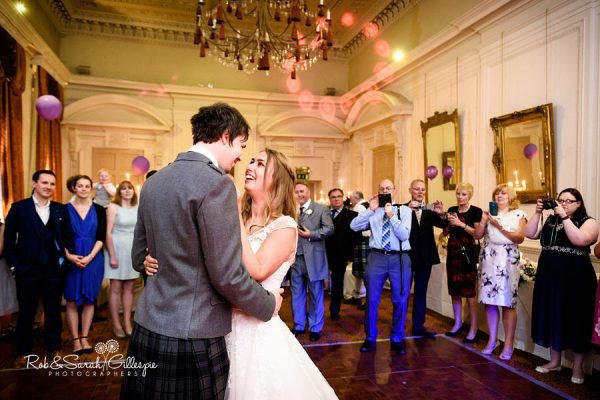 Dancing at Coombe Abbey wedding