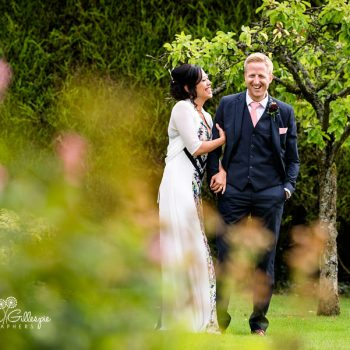 Garden party wedding photography