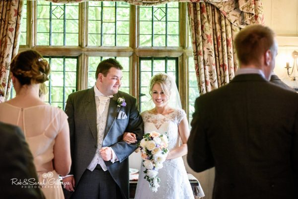Civil wedding ceremony at Gorcott Hall