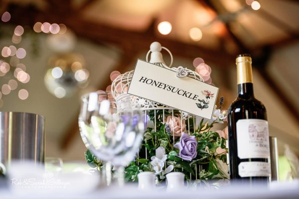 Gorcott Hall wedding breakfast table details