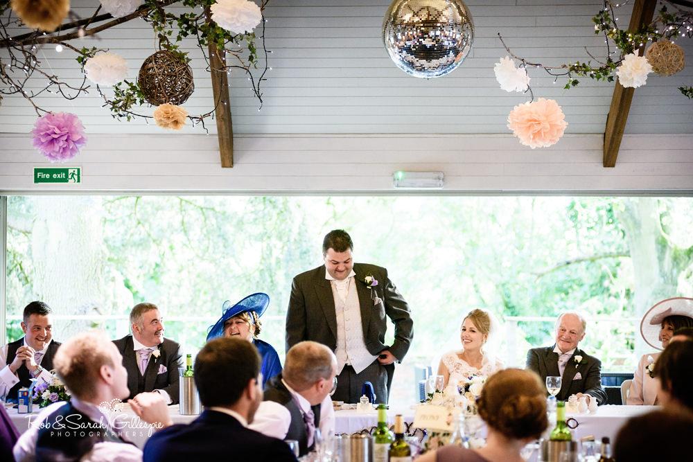 Gorcott Hall wedding reception - speeches