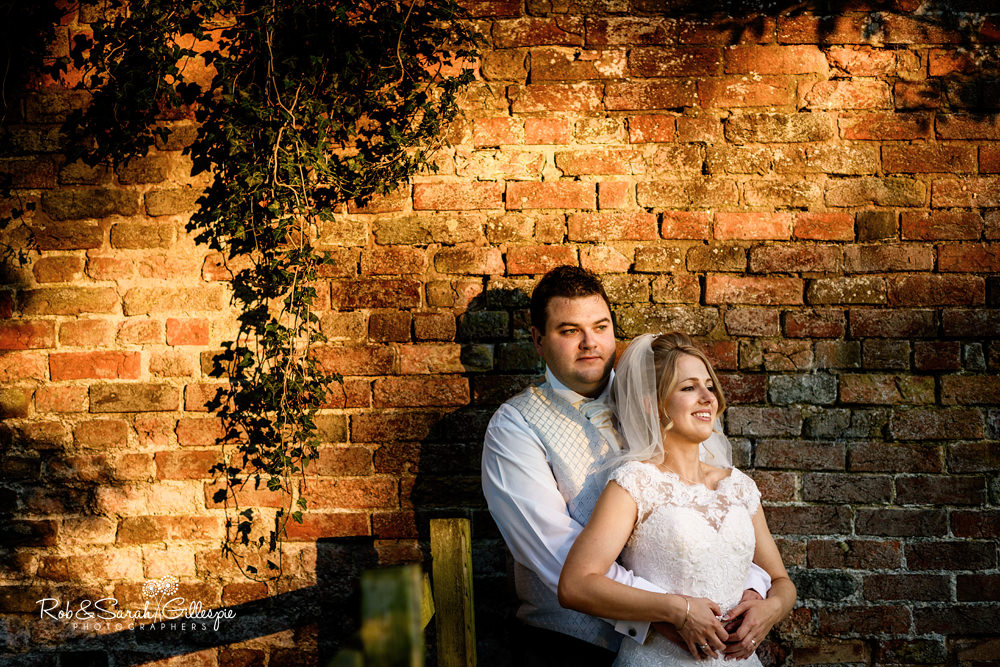 Bride and groom at Gorcott Hall