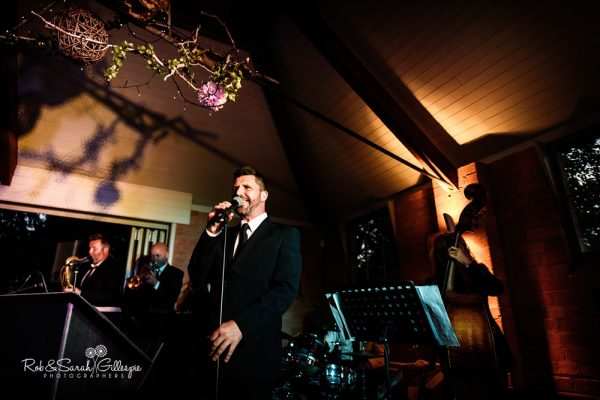 Wedding singer at Gorcott Hall