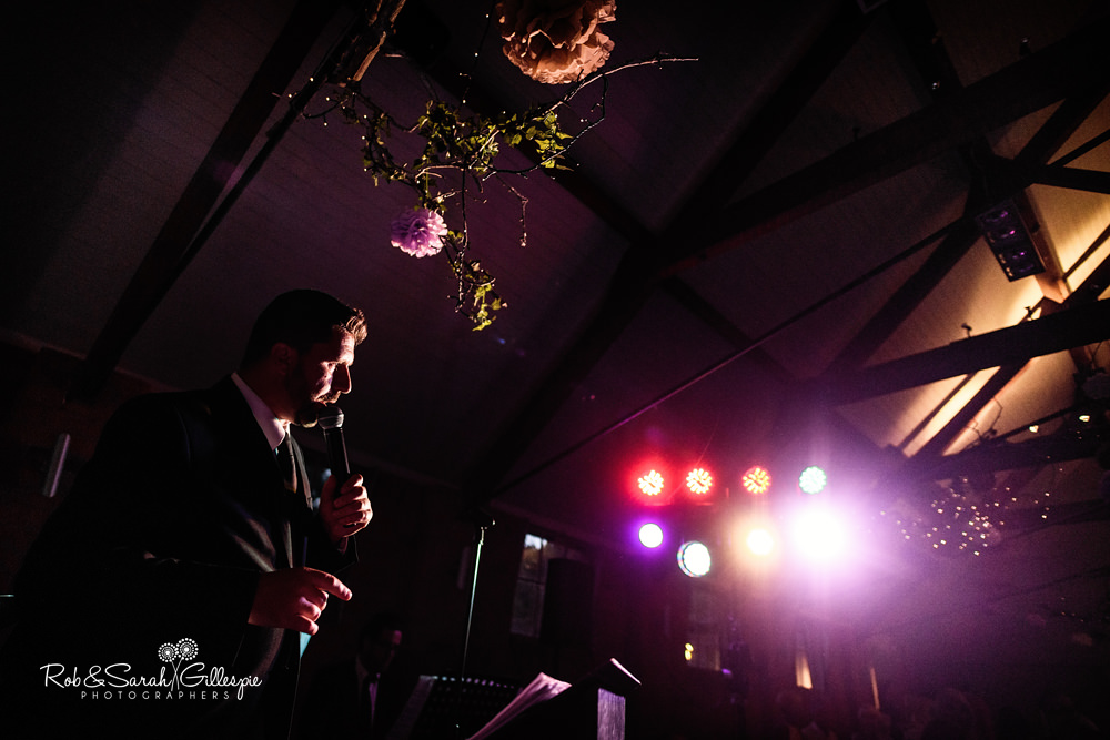 Wedding guests dance to live band at Gorcott Hall