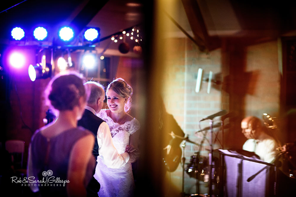 Bride dances with father at Gorcott Hall wedding
