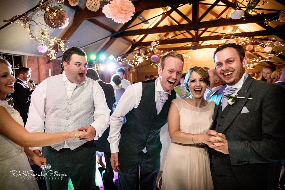 Gorcott Hall evening wedding reception with live music by swing band