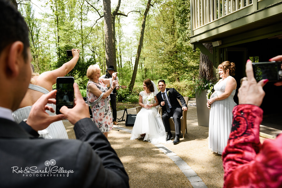 Outdoor wedding ceremony at Hogarths
