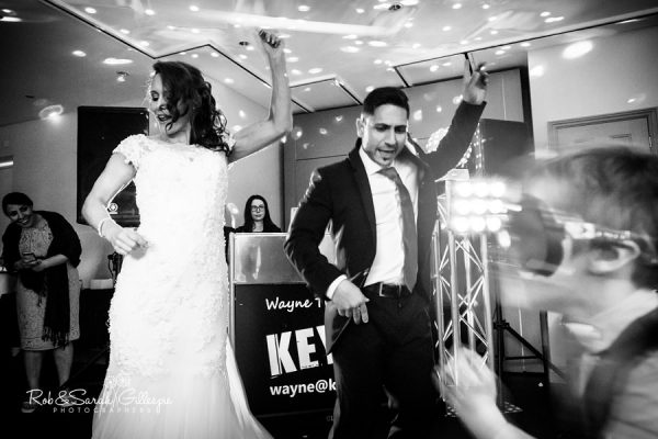 Bride and groom performing dance at Hogarths Solihull