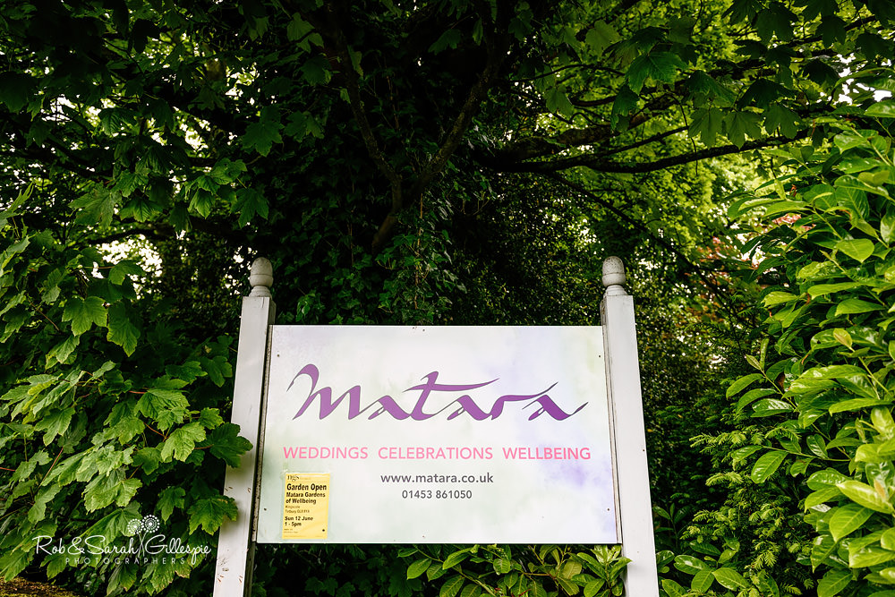 Matara Centre sign, reading Weddings, Celebrations, Wellbeing