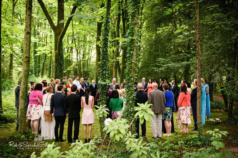 Pagan wedding blessing in woodlands at Matara Centre