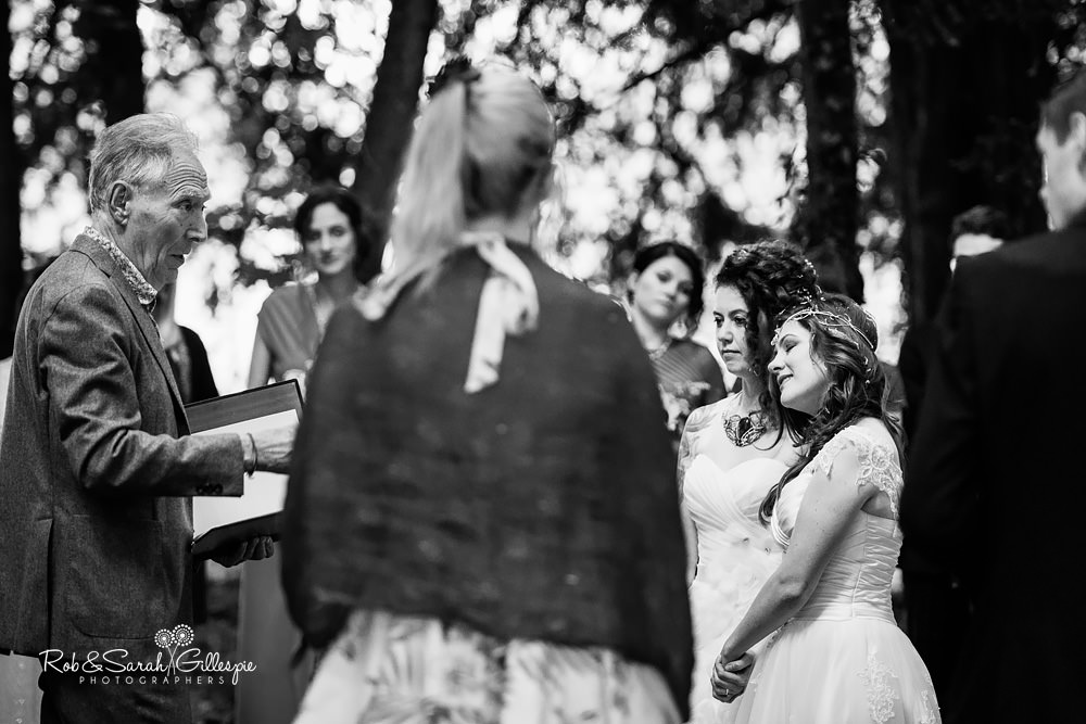 Pagan wedding blessing in woodlands at Matara Centre