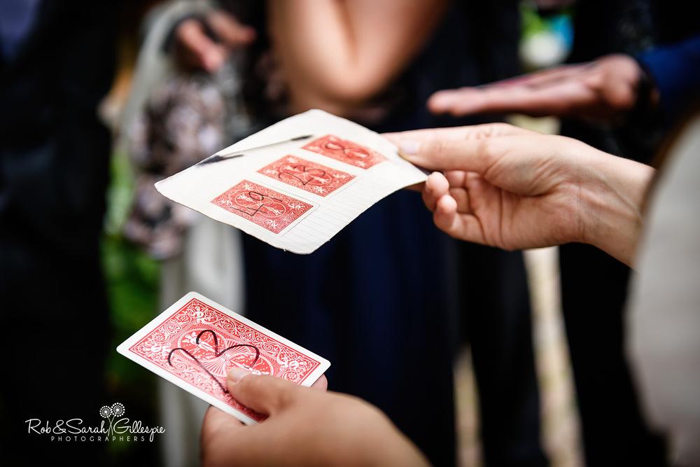 Magician entertains wedding guests at Matara Centre