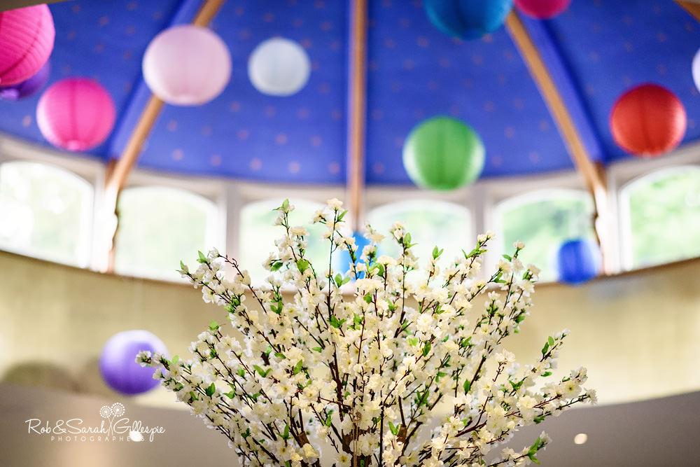 Wedding table details at Matara Centre