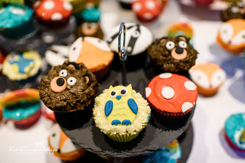 Wedding cupcakes with animal faces