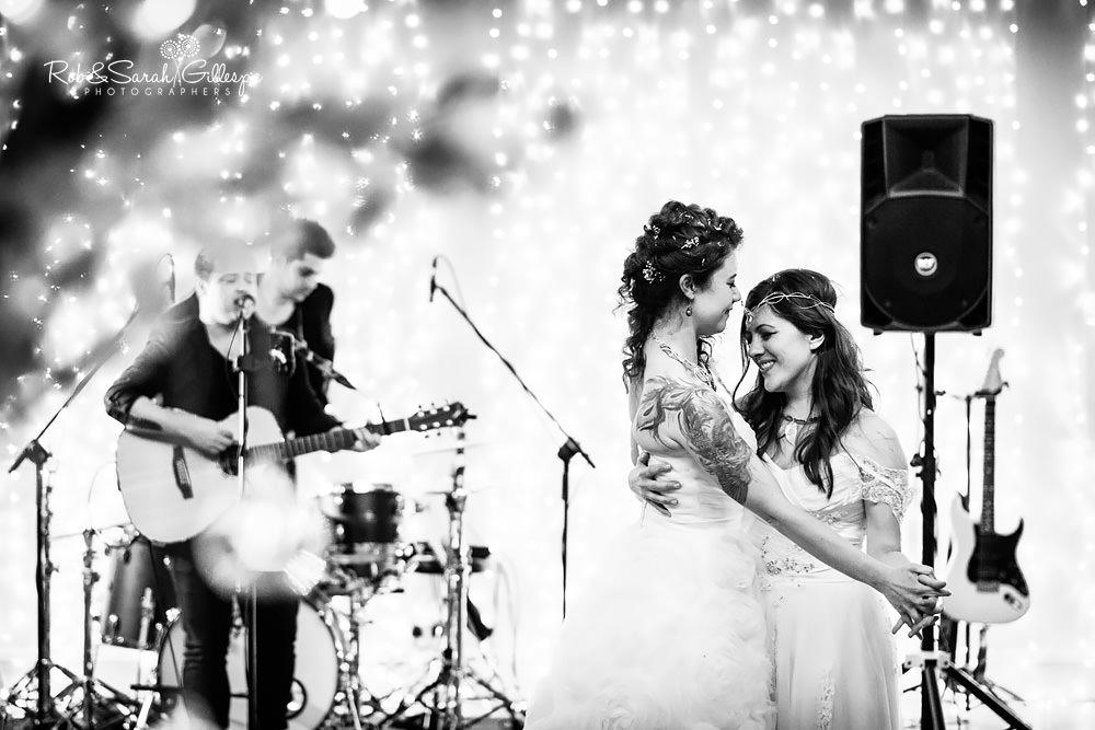 Brides first dance at Matara Centre same-sex wedding