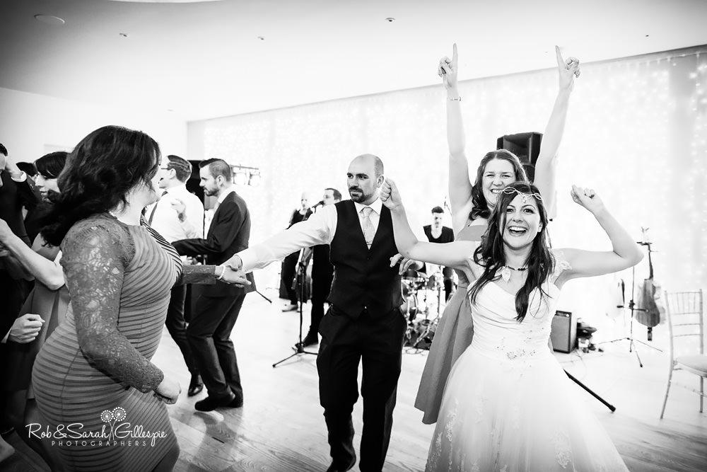 Wedding guests dancing at Matara Centre