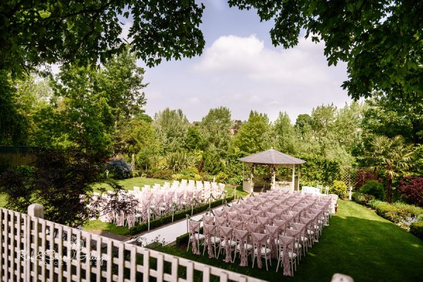 Warwick House outdoor wedding ceremony