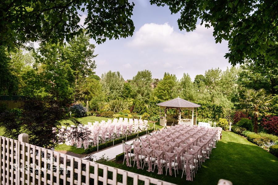 View of Warwick House outdoor ceremony