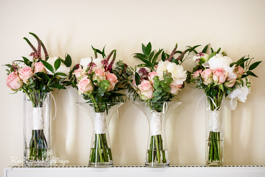 Bridal flowers at Warwick House