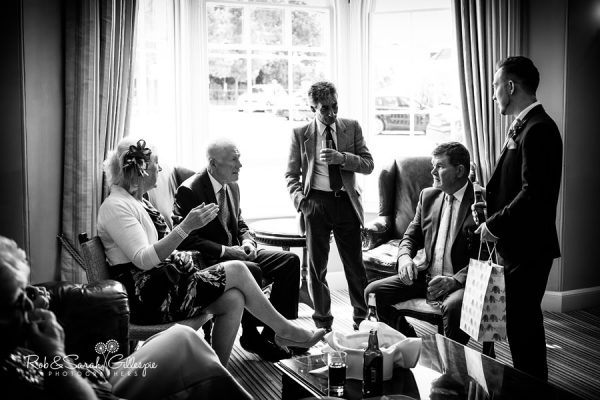 Wedding guests at Warwick House