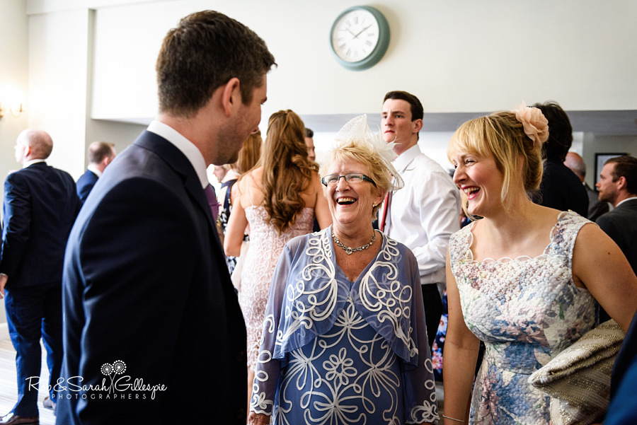 Wedding guests arrive at Warwick House