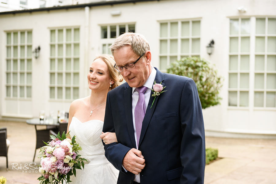 Outdoor wedding ceremony at Warwick House