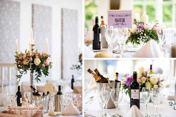Details of wedding breakfast at Warwick House