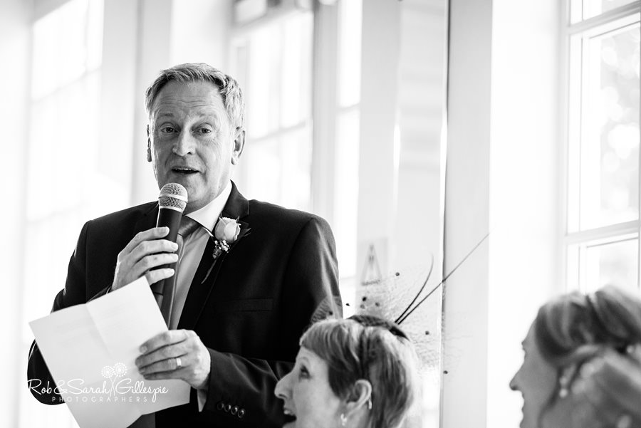Wedding speeches at Warwick House