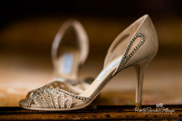 Jimmy Choo bridal shoes at Wethele Manor