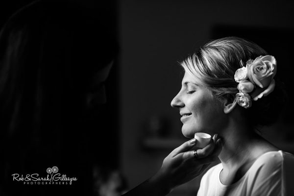Bride prepares for wedding at Wethele Manor