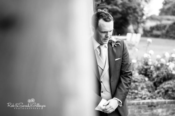 Nervous groom at Wethele Manor