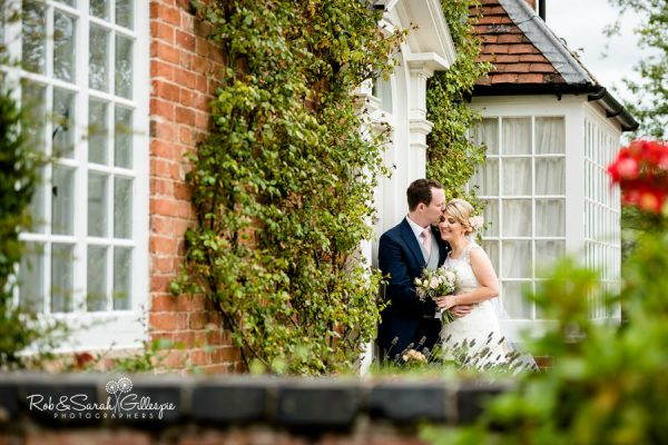 Bride and groom at Wethele Manor