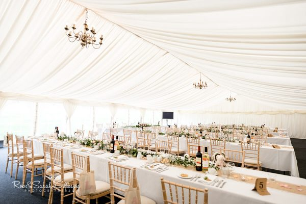 Wethele Manor marquee set up for wedding