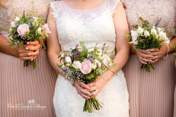 Bridal flowers at Wethele Manor wedding