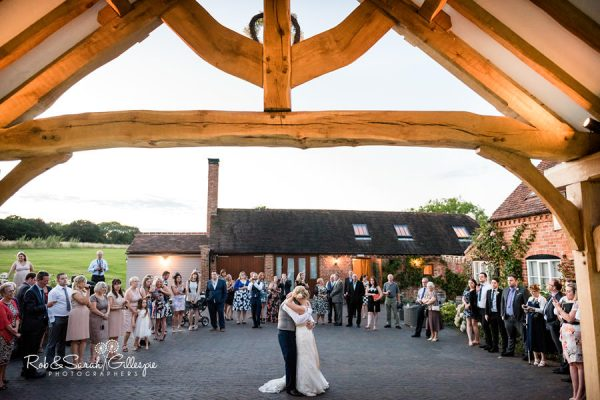 Wedding first dance outside at Wethele Manor